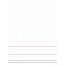 English Broad 4 Line Half Page Blank Copy (120 pages)