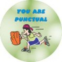YOU ARE PUNCTUAL